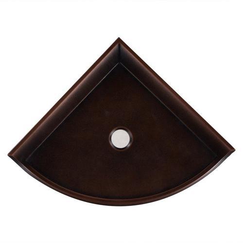 Oil Rubbed Bronze Decorative Corner Shelf 1 X 8 100215342