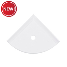 New! Polished White Decorative Corner Shelf
