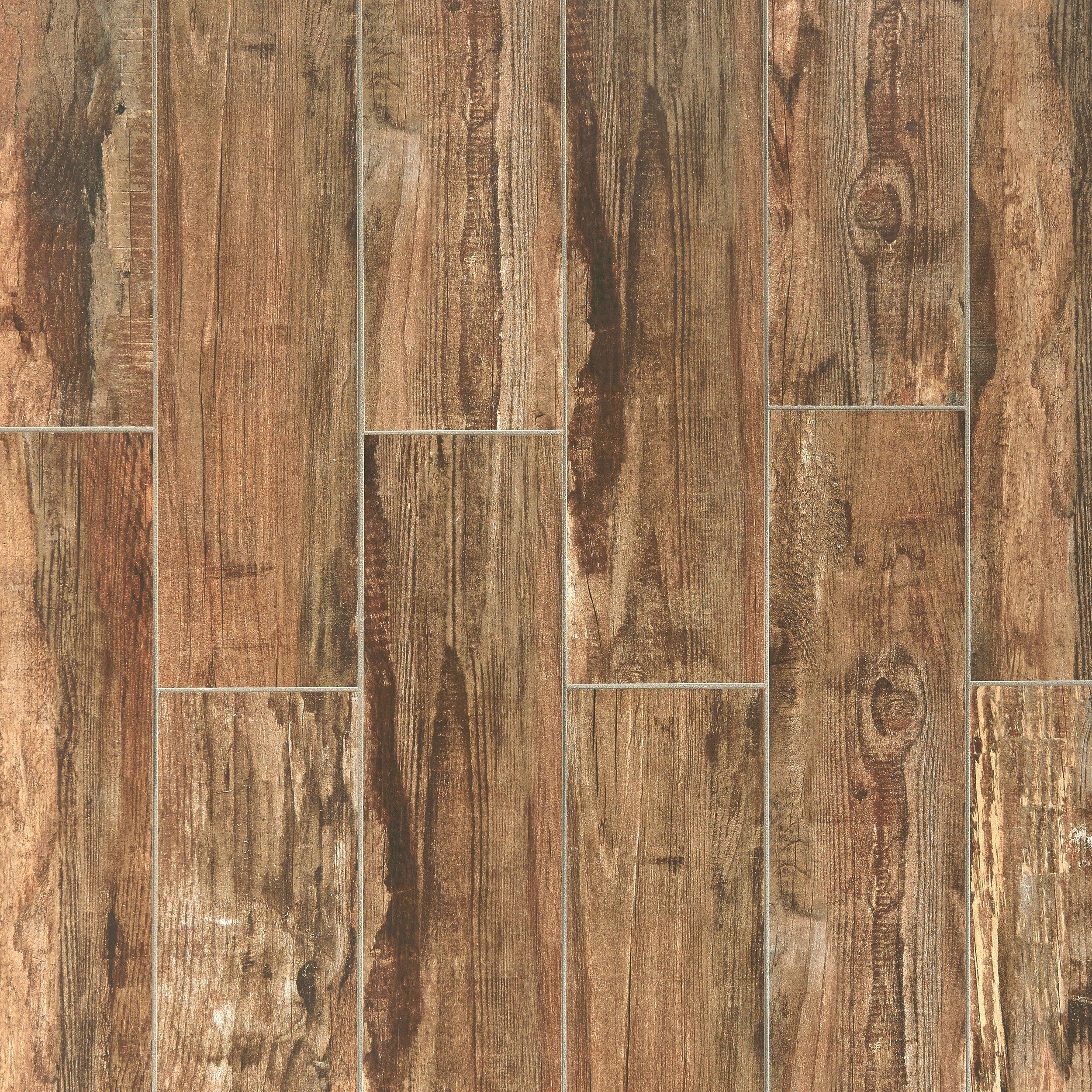 Westford Brown Wood Plank Porcelain Tile 6 x 24 100222082