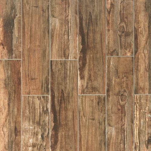 Westford Brown Wood Plank Porcelain Tile - 6 x 24 - 100222082 ...