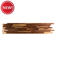 New! Dimensional Black Walnut Wall Wood Panel