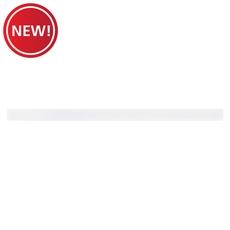 New! Pure White Glass Threshold