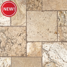 New! Lava Onyx Brushed Travertine Tile