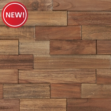 New! Teak Panel Parts Wood Mosaic