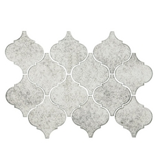 Viviano Mosaic Antique Mirror Arabesque Polished Glass Mosaic