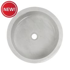 New! Bianco Carrara Round Marble Sink