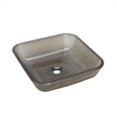 Black Cubix Glass Vessel Sink