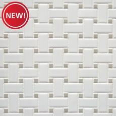 New! Matte Gray Dot Basketweave Porcelain Mosaic