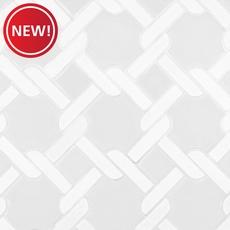 New! White Linen Lattice Porcelain Mosaic