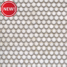 New! Glazed White Penny Porcelain Mosaic