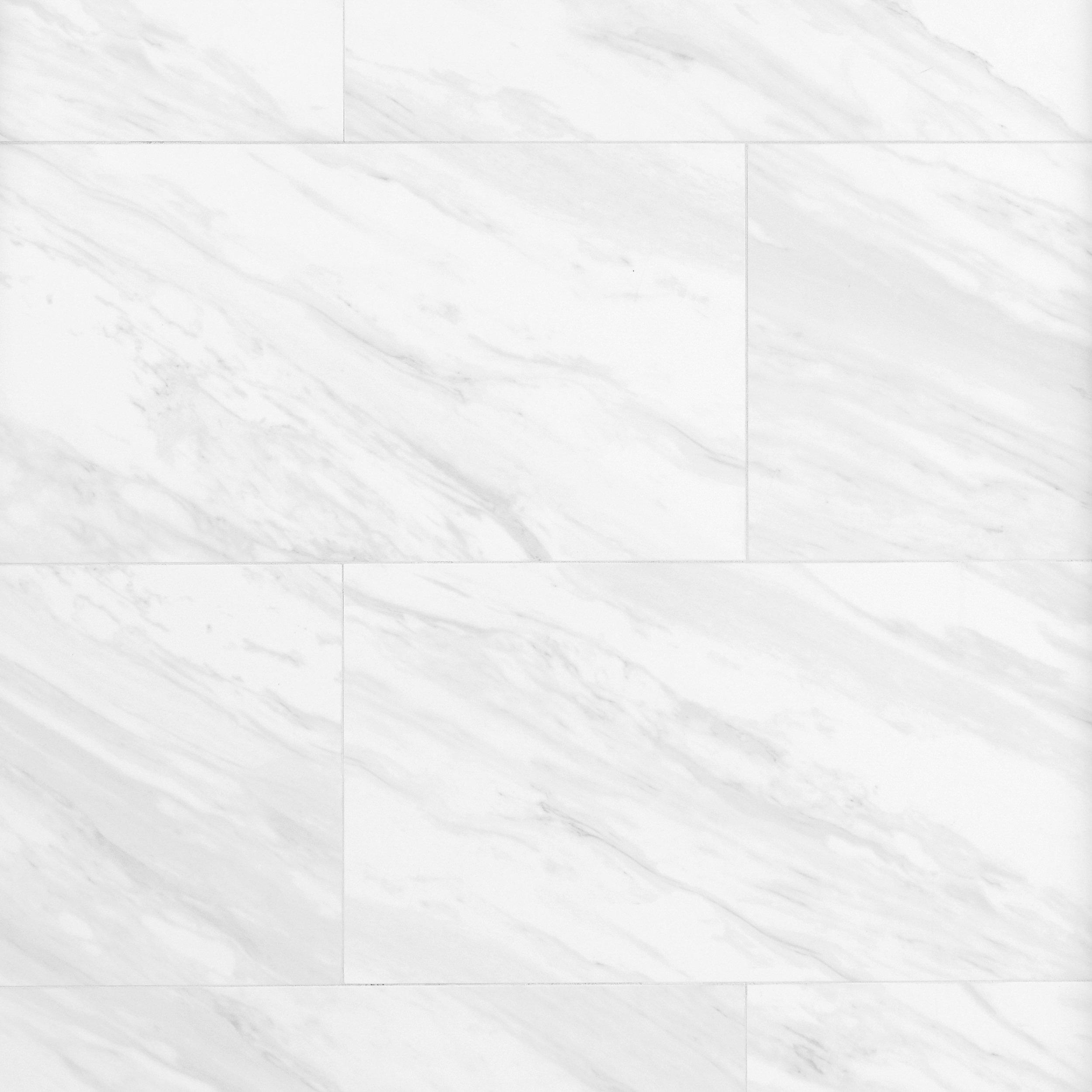 White Porcelain Tile Floor Style Selections Futuro White Porcelain ...