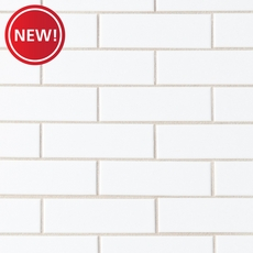 New! White Brick Ceramic Mosaic
