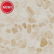 New! Onyx Honed Flat Pebblestone Mosaic