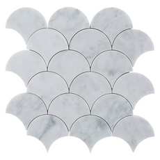 Carrara Fan Marble Mosaic