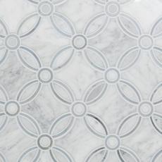 Carrara Calista Water Jet Cut Marble Mosaic