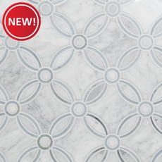 New! Carrara Calista Waterjet Marble Mosaic