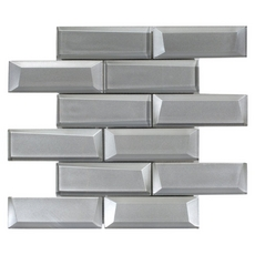 Broadway Silver Brick Glass Mosaic