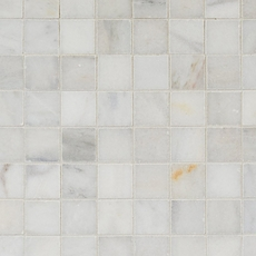 Regal White Square Honed Marble Mosaic