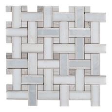 Carrara Valentino Basketweave Marble Mosaic