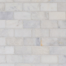 Regal White Honed Marble Mosaic