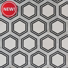New! Carrara Thassos Hexagon Marble Mosaic