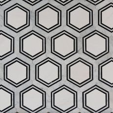 Carrara Thassos Hexagon Marble Mosaic