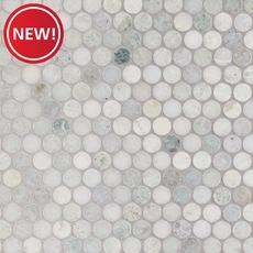 New! Caribbean Green Penny Marble Mosaic