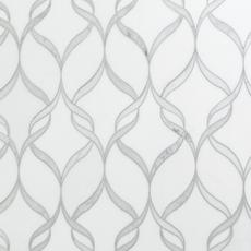 Carrara Thassos Hera Water Jet Cut Marble Mosaic