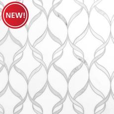 New! Carrara Thassos Hera Waterjet Marble Mosaic