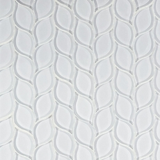 Winter Cloud Leaf Water Jet Cut Glass Mosaic