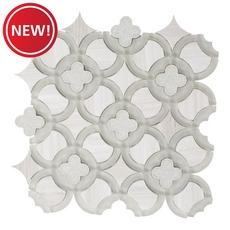 New! Valentino Quatrefoil Glass Mosaic