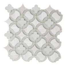Valentino Quatrefoil Glass Mosaic