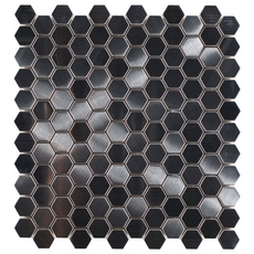 Stainless Steel Hexagon Metal Mosaic