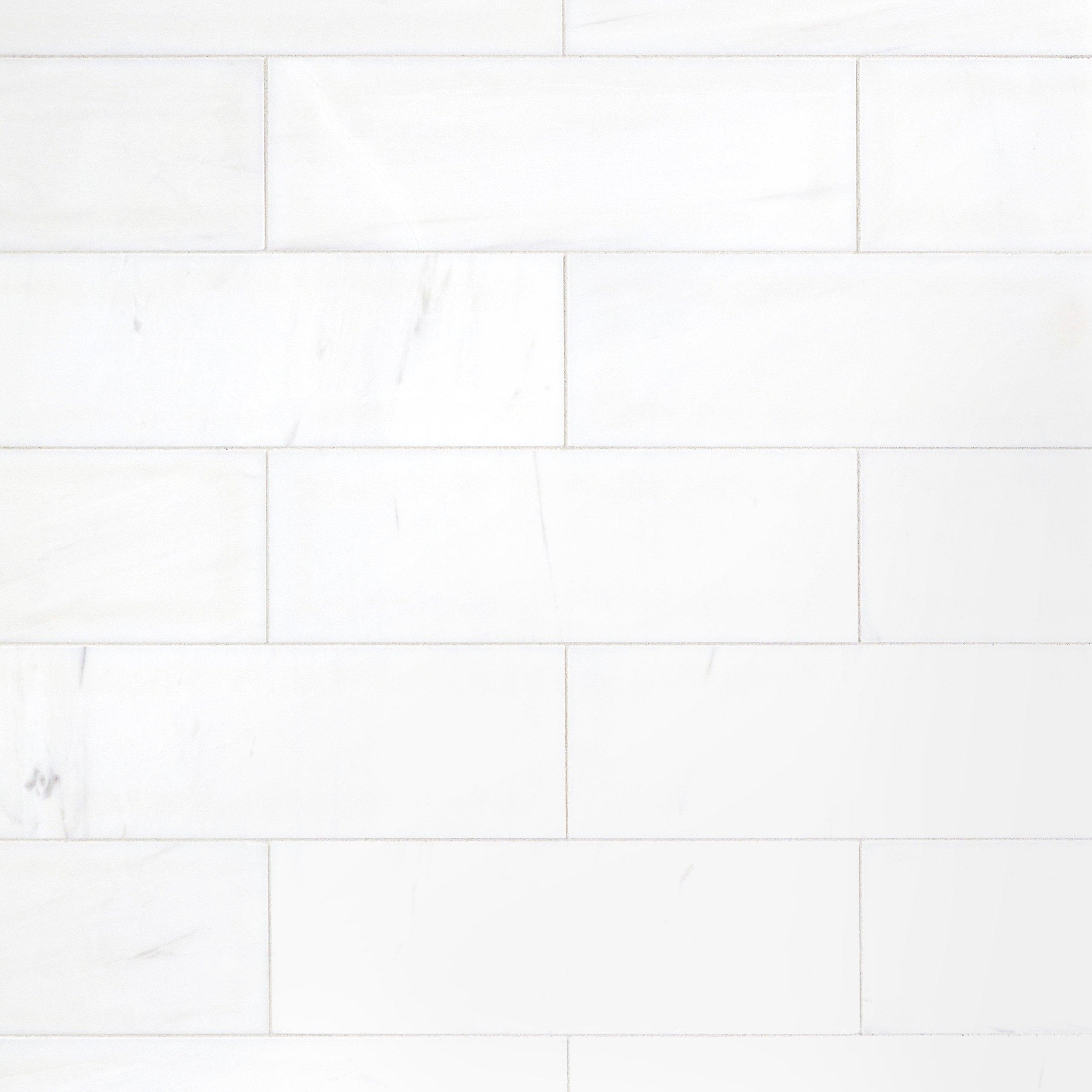 Dolomite White Marble Tile 4in x 12in 100248392 Floor and