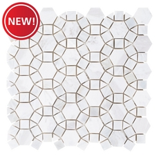 New! Carrara Circulos Mother of Pearl Marble Mosaic