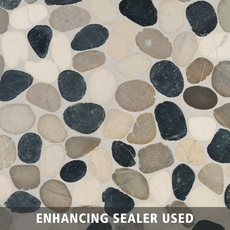 Bodrum Cool Blend Flat Pebblestone Mosaic
