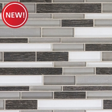 New! Acadia Bay Linear Glass Mosaic