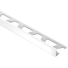 Schluter JOLLY Bright White 5/16in. PVC 8 ft. 2-1/2 in. Tile Edging Trim