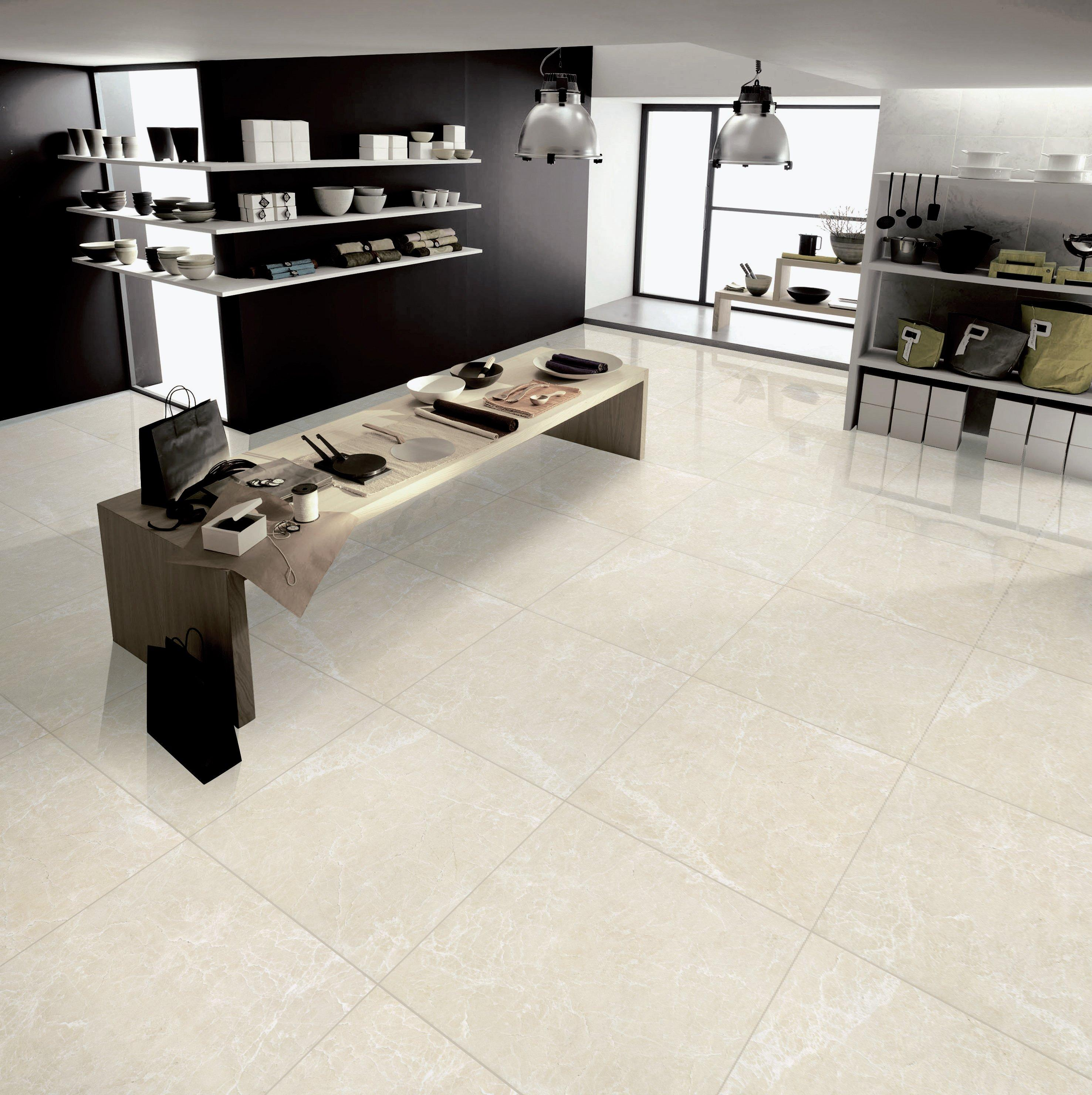 Polished Beige Porcelain Tile   24in. X 24in.   100250497 | Floor And Decor