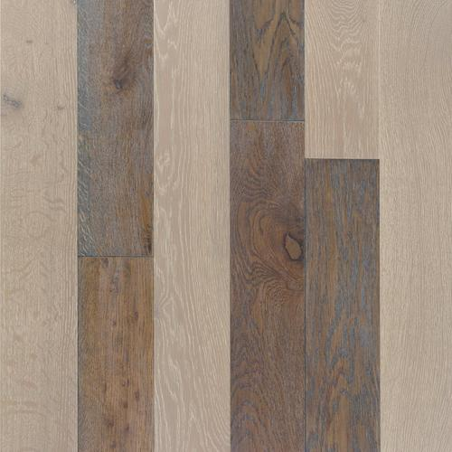 Mixed Gray Oak Hand Scraped Wire Brushed Solid Hardwood 58in X 4