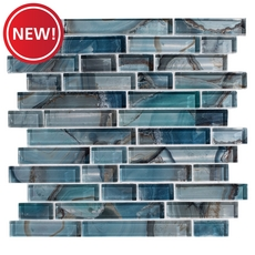 New! Harbour Island Linear Glass Mosaic