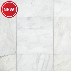 New! Ocean White Honed Marble Tile