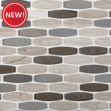 New! Harbor Glass Stone Mix Mosaic