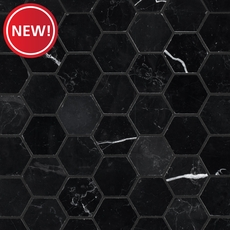 New! Nero Marble Hexagon Mosaic