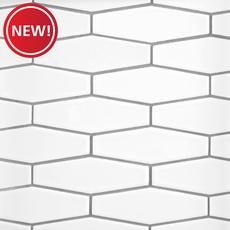 New! White Hexagon White Body Ceramic Tile