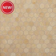 New! Jerusalem Gold Hexagon Limestone Mosaic