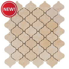 New! Casa Antica Gold Arabesque Limestone Mosaic