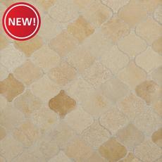 New! Jerusalem Gold Arabesque Limestone Mosaic