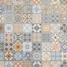 Provenzia Decorative Mix Pattern Porcelain Tile