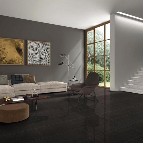 Granite Charcoal Polished Porcelain Tile - 12 x 24 - 100340942 ...
